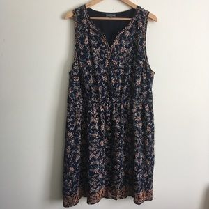 Market and Spruce | Navy Printed Dress Size 3X
